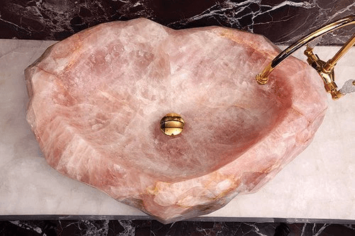 Rose Quartz Sink 2 Michal Amp Company